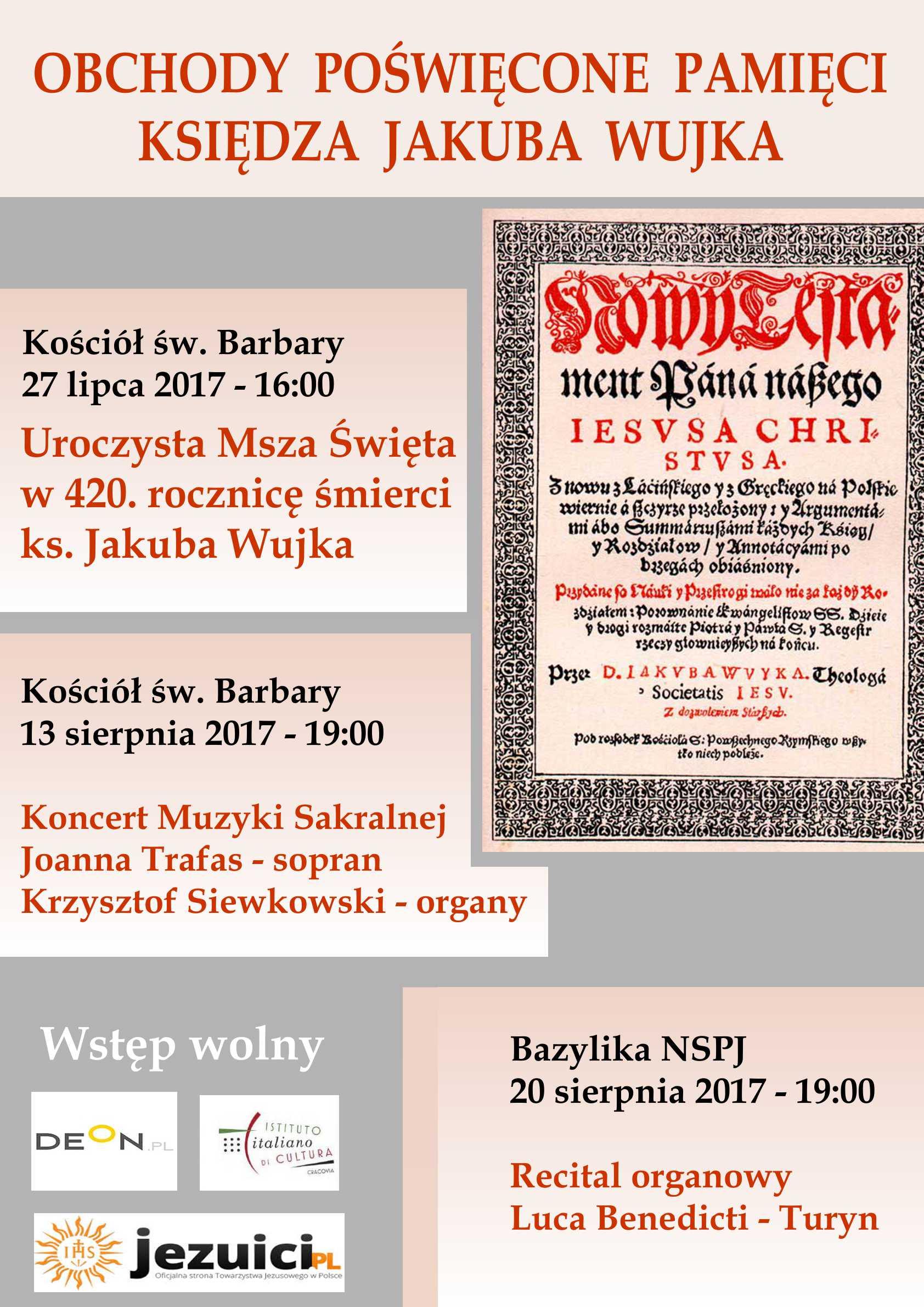Wiadomości duszpasterskie – 6 VIII 2017