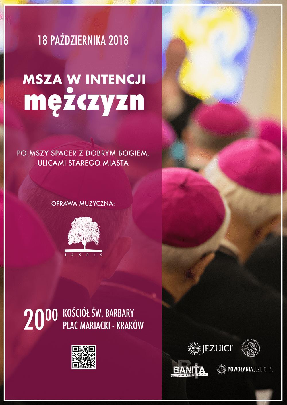 Msza w intencji mężczyzn – 18 X 2018, godz. 20.00